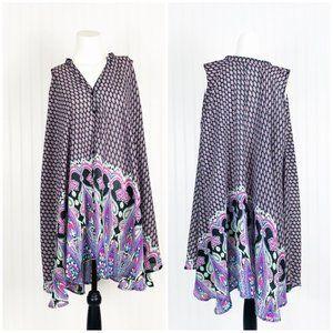 Umgee Paisley Print Tunic Dress